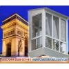 Французские балконы с теплосберегающими стеклопакетами Guardian ClimaGuard Solar.