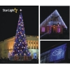 Новогоднее оформление зданий деревьев. ландшафтов
