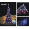 Новогоднее световое оформление зданий,  ландшафтов,  деревьев.